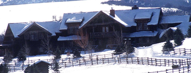 Idyllisk og langt væk fra offentligheden. Kurt Russell og Goldie Hawns hus i Aspen i Colorado.