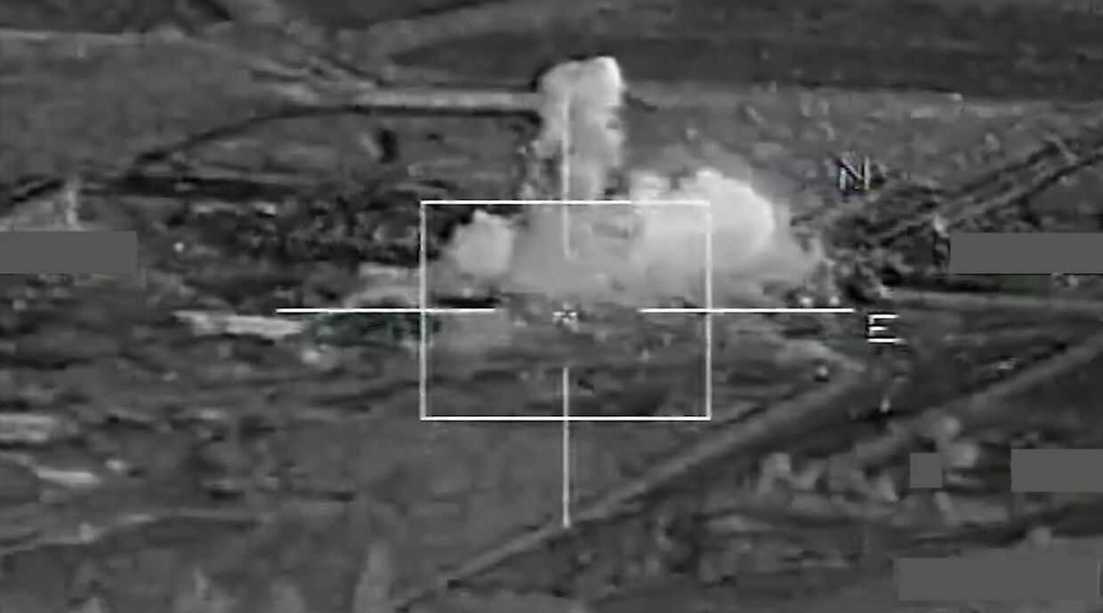 "A grab image taken from a handout video released on November 17, 2015 by French Defense Audiovisual Communication and Production Unit (ECPAD) shows French warplanes bombing operational sites at the Islamic State's Syria stronghold Raqa. French warplanes targeted the Islamic State's Syria stronghold for the third consecutive day today, hitting jihadists who claimed responsibility for the Paris attacks, Defence Minister Jean Yves Le Drian said. AFP PHOTO / ECPAD / EMA = RESTRICTED TO EDITORIAL USE - MANDATORY CREDIT ""AFP PHOTO / ECPAD / EMA "" - NO MARKETING NO ADVERTISING CAMPAIGNS - DISTRIBUTED AS A SERVICE TO CLIENTS - TO BE USED WITHIN 30 DAYS FROM 17/11/2015=="