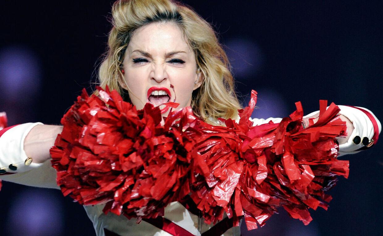 Madonna under en koncert i oktober. David Becker/Getty Images/AFP