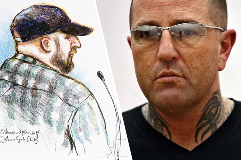TV: Rets-tegning af den fynske sexkidnapper. TH: Rockeren Brian Sandberg.