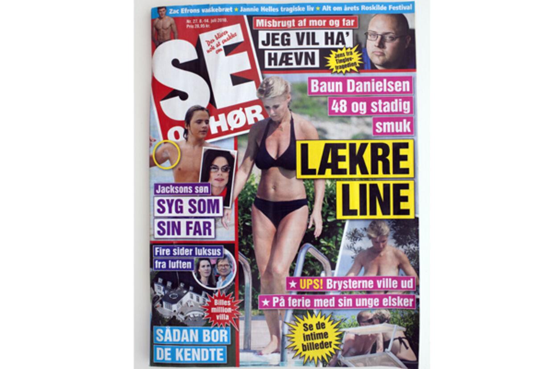 Line pryder forsiden af denne uges udgave af Se og Hør.