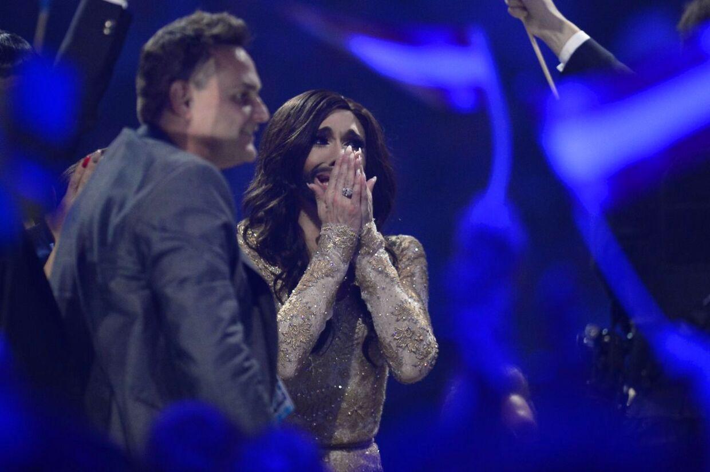 Den østrigske sanger/sangerinde Conchita Wurst blev en sikker vinder af det europæiske Melodi Grand Prix.