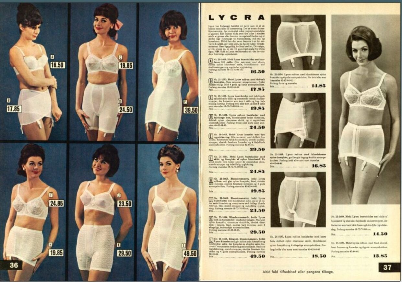 Katalogerne fra Daells Varehus var i sig selv et tilløbsstykke - især i provinsen. Og det var særligt siderne med dameundertøj, som i dette katalog fra 1965, der var populære. Foto: Småtrykssamlingen på Det Kongelige Bibliotek