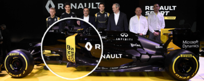På Renault-raceren kan man se Jack & Jones-logoet på siden