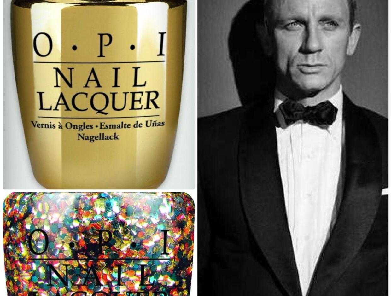En topcoat med 18 karat ægte guld? Eller hvad med pailletter på neglene? Pimp neglene op til fest med sæsonens store udvalg af glimmer og glitter. Foto: OPI/ Skyfall James Bond still.