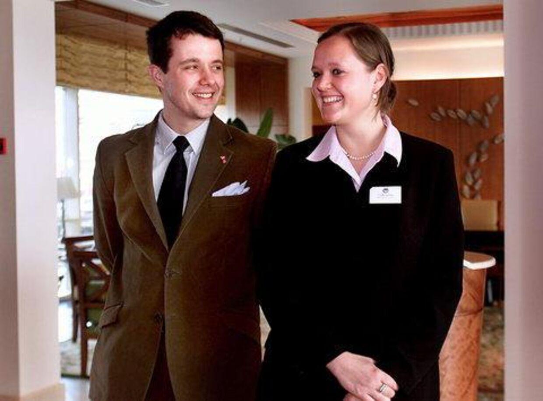 TAK, FREDERIK: Cecilia Lonning er glad for den støtte, hun har fået fra Kronprins Frederiks Fond til at studere på Harvard. I går takkede hun Frederik for støtten. Foto: Bax Lindhardt