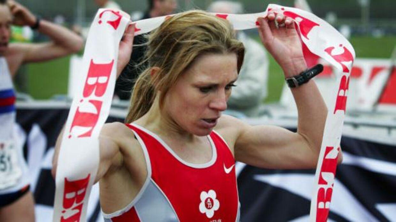 To gange har Annemette Rosén (tdl. Jensen) vundet BT Halvmarathon. Her vinder hun i 2005. Foto: Scanpix