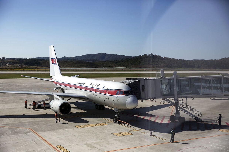 Det ene af de to Tupolev Tu-204-fly Air Koryo er i besiddelse af.