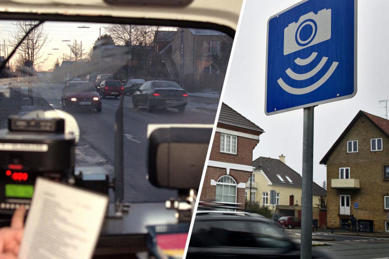 Politiet firedobler nu antallet af fotovogne i trafikken, men deres resultater skal ikke tælle med i politiets målsætninger. Antallet af de såkaldte 'stærekasser' øges også. Men indsatsen handler ikke om at få flere bøder, siger politiet. Arkivfoto