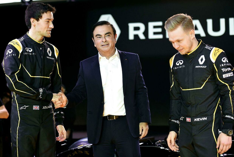 De to Renault-kørere: Kevin Magnussen og Jolyon Palmer.