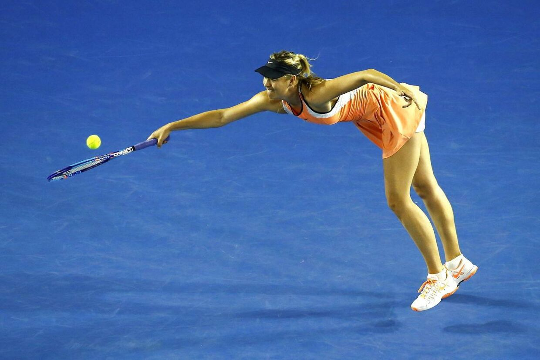 Maria Sharapova i kamp mod Lauren Davis i Australian Open