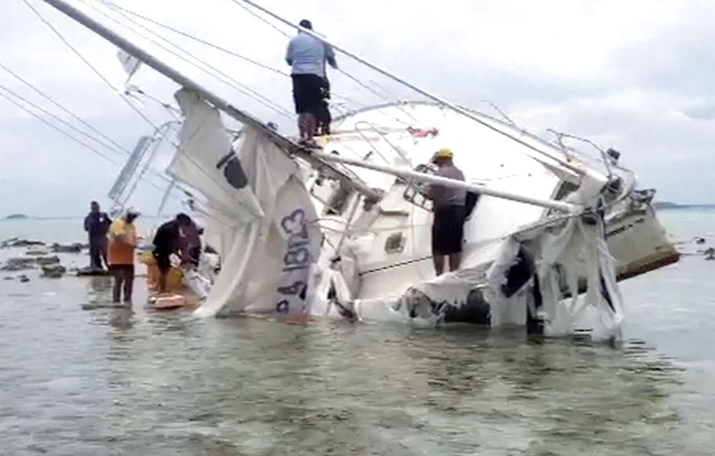 Den forliste yacht