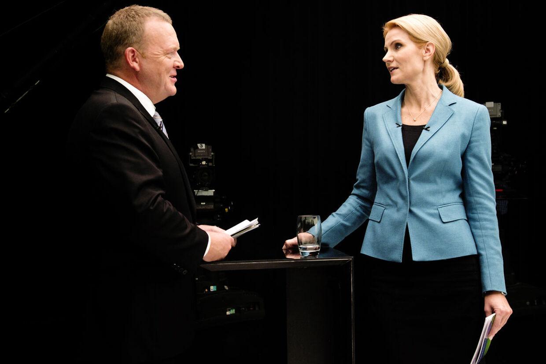 ARKIVFOTO 2011 af Helle Thorning-Schmidt og Lars Løkke Rasmussen- - Se RB 17/1 2013 07.29. Både statsministeren og oppositionslederen skal til World Economic Forum i Davos. (Foto: Mads Nissen/Scanpix 2013)