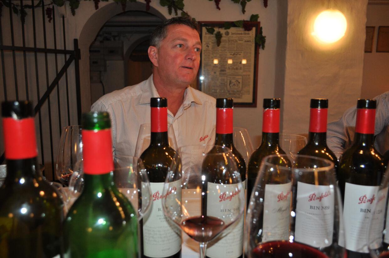 Andrew Baldwin, her under præsentationen af Penfolds vine i København, har i dag hovedansvaret for den australske vinmastodonts røde vine.