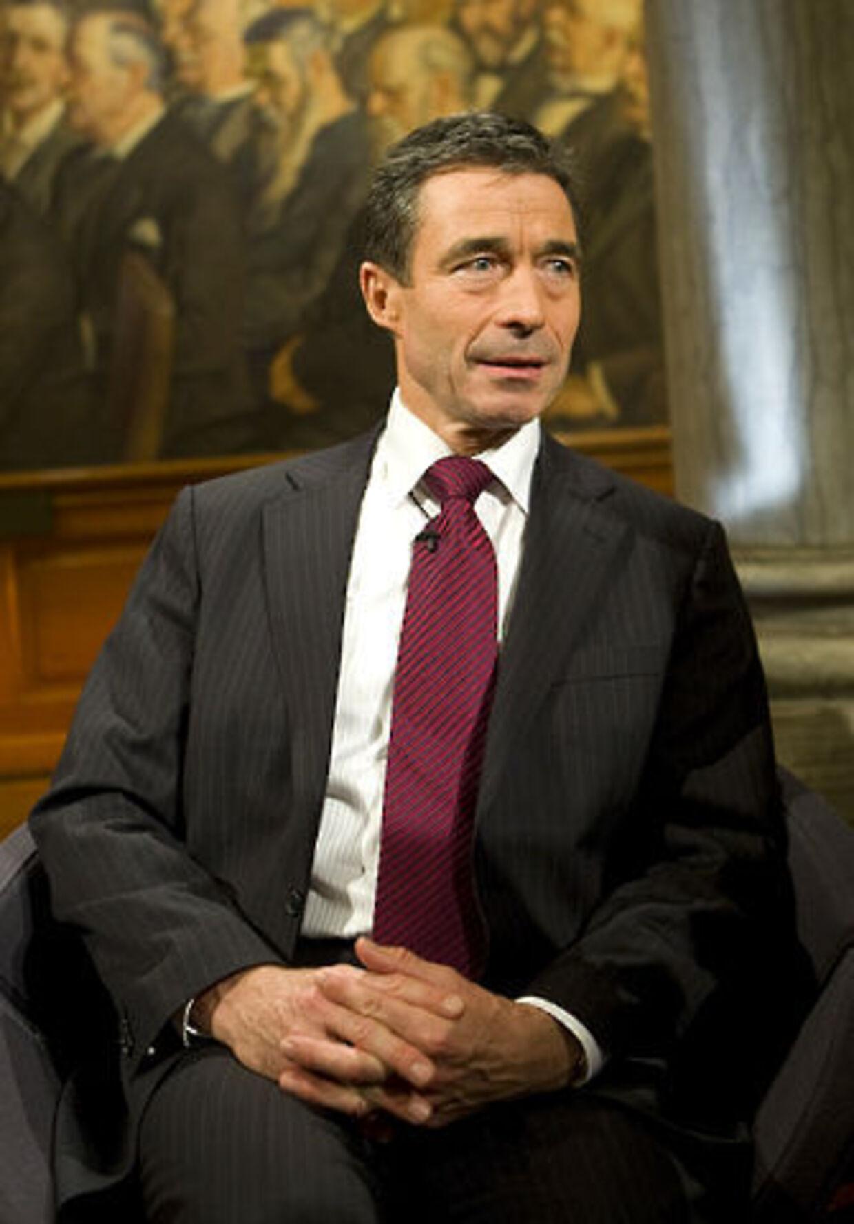 Anders Fogh - smiler, da landsresultatet er en kendsgerning.