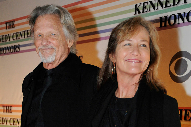Kris Kristoffersen med sin kone Lisa Meyers.