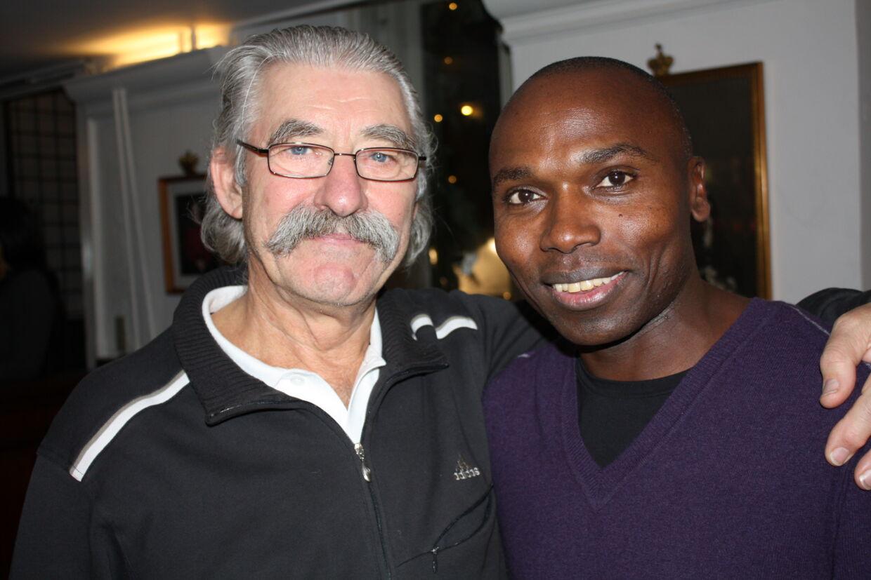To legender: David Bedford, tidligere verdensrekordholder på 10.000 meter, og Wilson Kipketer.