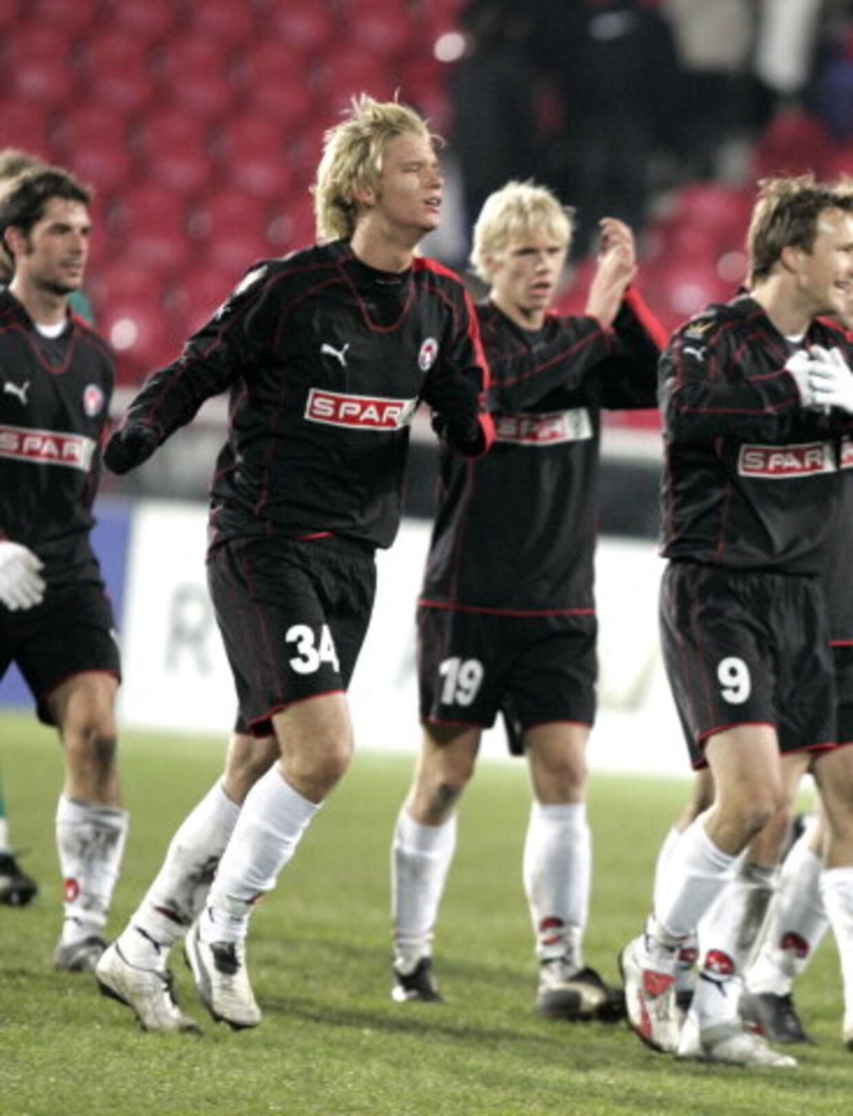 Christian Sivebæk (nummer 34) skal det næste halve år spille for Skive.