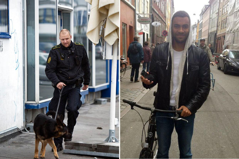 Politiet ledte hele lørdagen efter spor i Kødbyen, der kunne gøre dem klogere på, hvorfor 21-årige Jonas Thomsen Sekyere (th) blev dræbt natten til lørdag.
