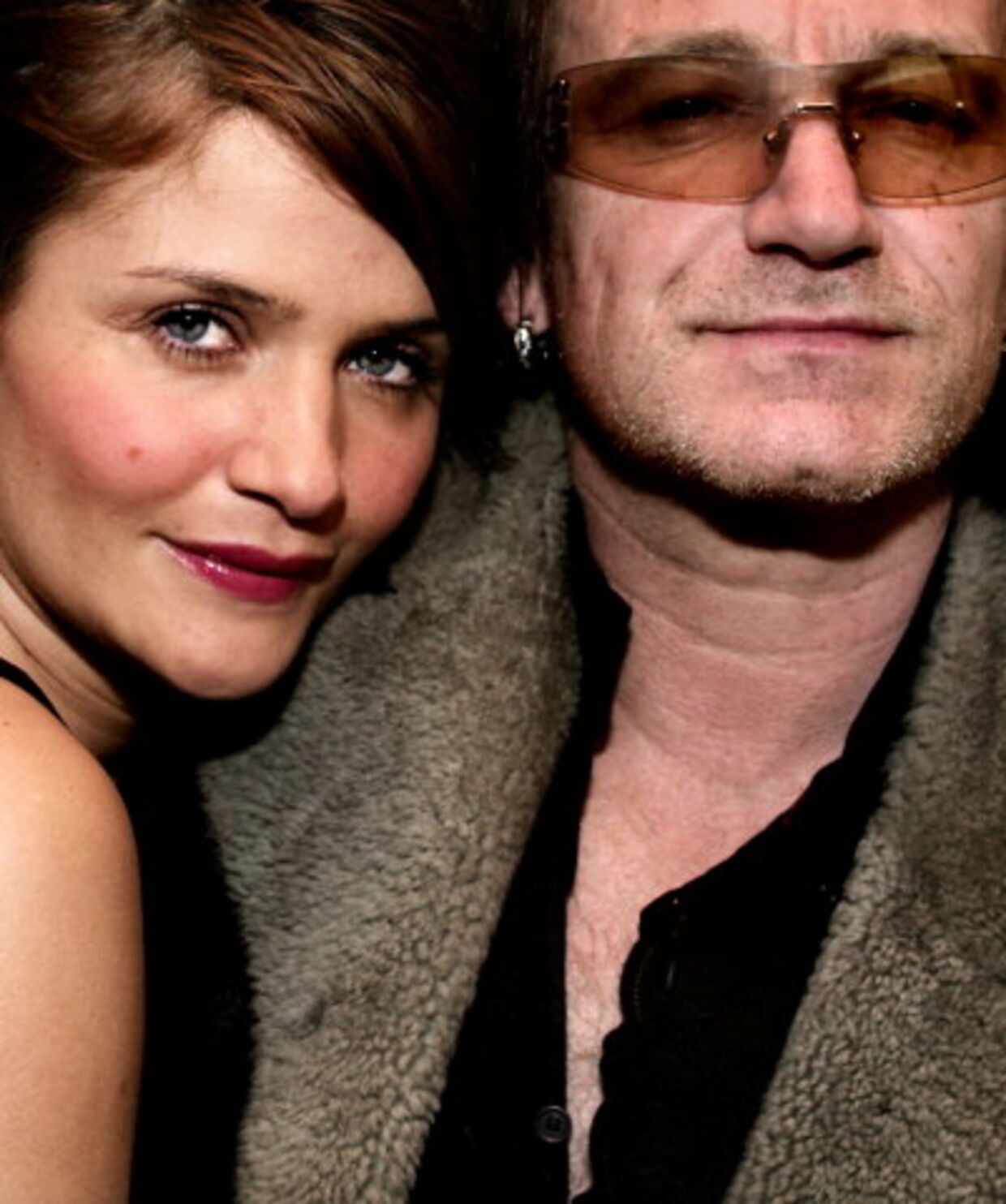 Helena Christensen og U2s forsanger Bono er gode vennner og ses ofte. Her er de fotograferet sammen, da de i januar var på restaurant »Era Ora« i København. Foto: Martin Sylvest