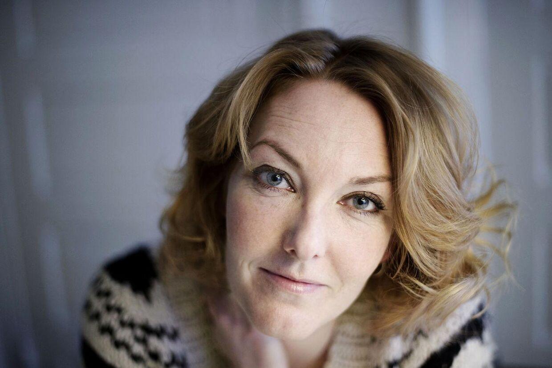 Skuespiller Ditte Hansen fik sig noget af et chok lørdag aften, da hun var vidne til et epileptisk anfald blandt publikum. Foto. Liselotte Sabroe