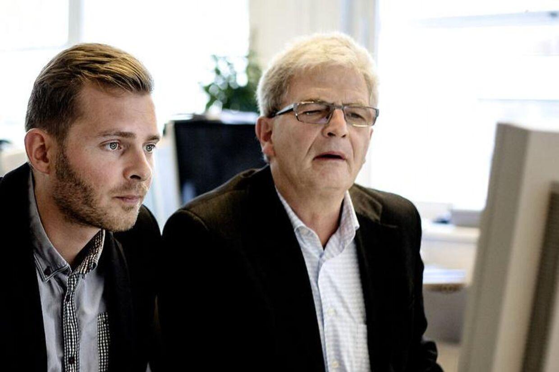 Skatteminister Holger K. Nielsen og spindoktor Thomas Brahm