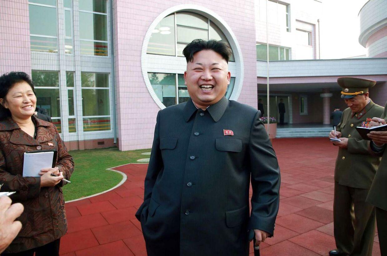 Her ses Kim Jong-Un