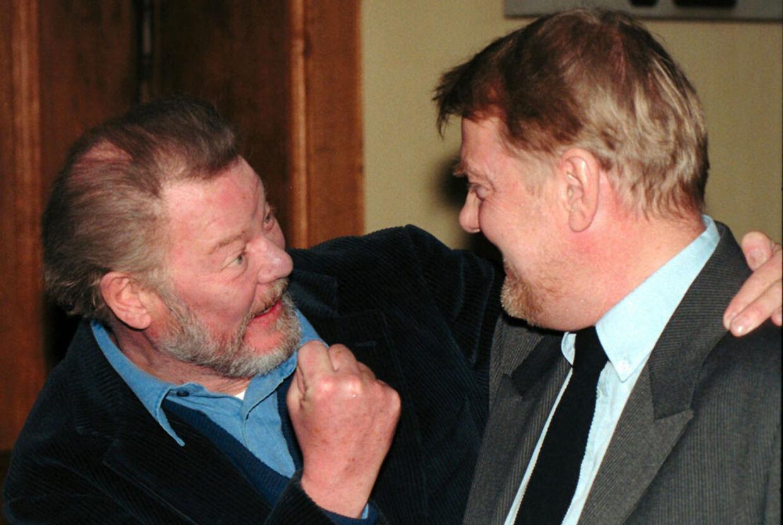 Kaspar Rostrup har flere gange instrueret Frits Helmuth, bl.a. i DRs tv-serie 'Bryggeren'.