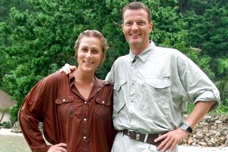 Regina og Thomas Mygind, da de mødte hinanden under Robinson Ekspeditionen i 1998.