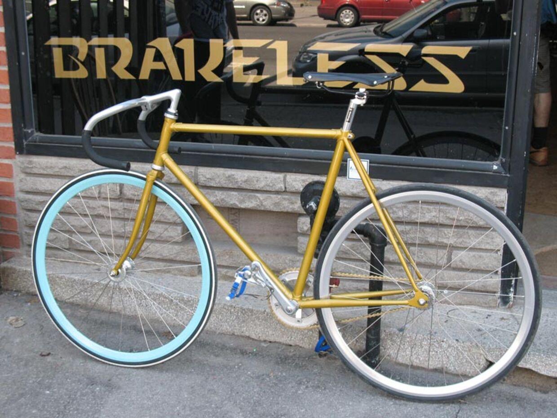 Sådan kan en bremseløs cykel se ud.