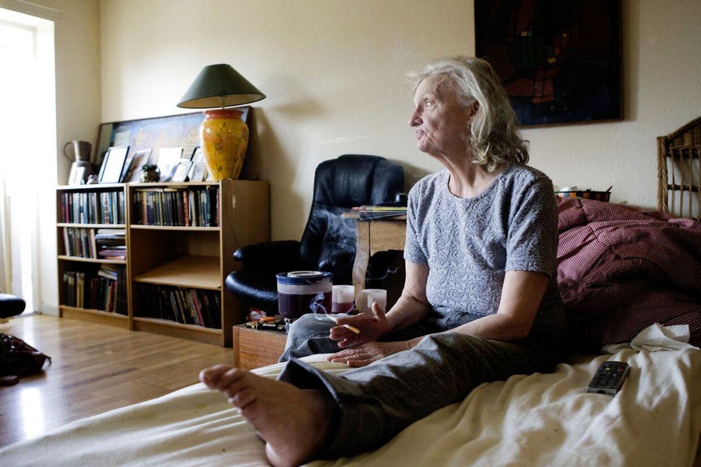 Bodil Riis, mor til Bjarne Riis. Her fotograferet på hendes bopæl i København.