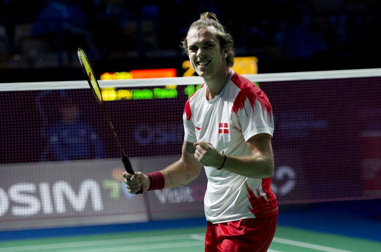 Danish Open Badminton - Odense - Herre Single - Jan O Jørgensen mod Japanske Takuma Ueda Danskeren vandt 2 - 1 i sæt