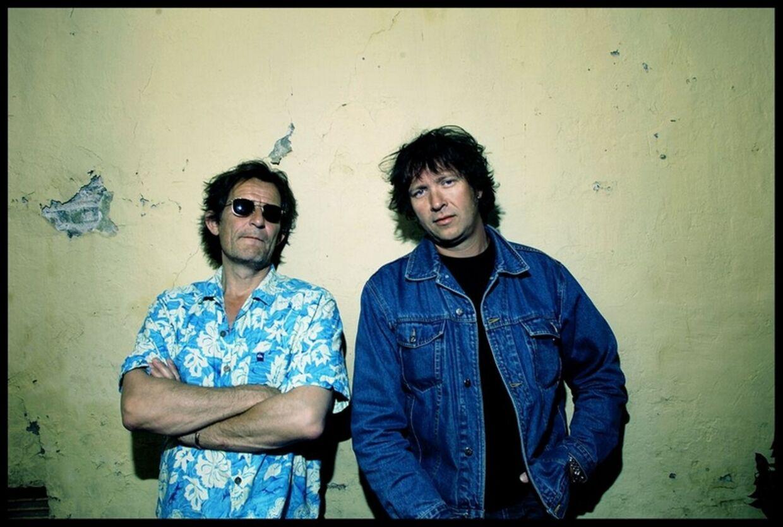 To medlemmer fra Big Fat Snake, da bandet i 2002 kom ud med en ny plade. Foto: Thomas Nielsen.