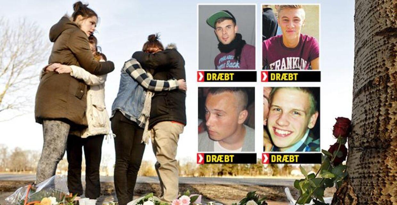 En 20-årig kammerat til de fire dræbte var tilfældigvis den første på ulykkesstedet. På det tidspunkt stod det ikke klart for ham, at han rent faktisk kendte de fire unge mænd.