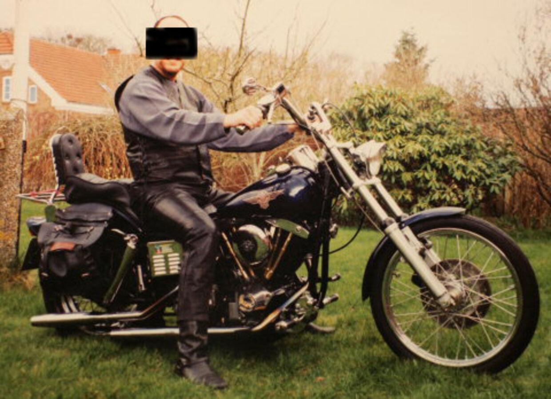 Den 42-årige far elskede sin Harley. datteren lod han arbejde som prostitueret. Foto: Ernst van Norde