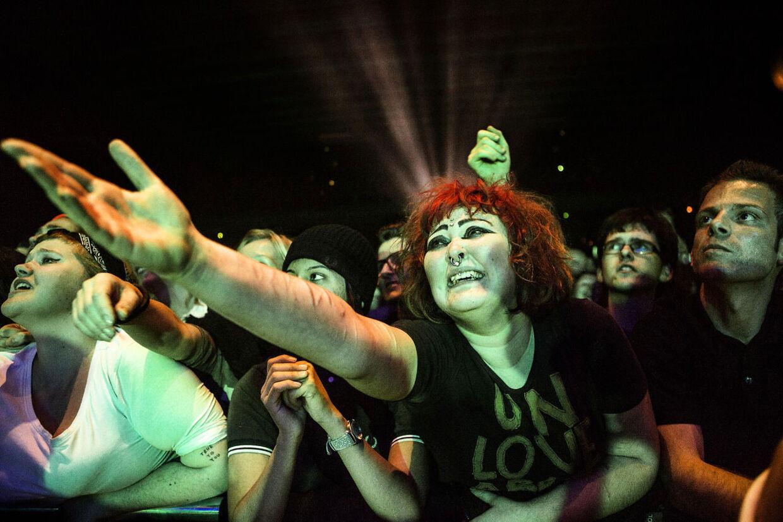 Publikum til Morrissey koncert i Falconer Salen