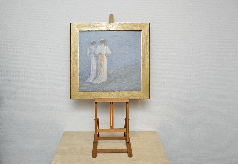 En skitse til et af P.S. Krøyers mest kendte malerier blev solgt for mere end det dobbelte af vurderingen. Maleriet, som er Krøyers fjerde forstudie til Sommeraften på Skagen Sydstrand, er under hammeren hos Sotheby´s i London i morgen den 20.11. 2012. Vurderingen er ifølge Berlingske mellem 150.000 og 250.000 pund. Sothesby har auktion på P. S. Krøyer maleri af Anna Ancher og Marie Krøyer på stranden i skagen.