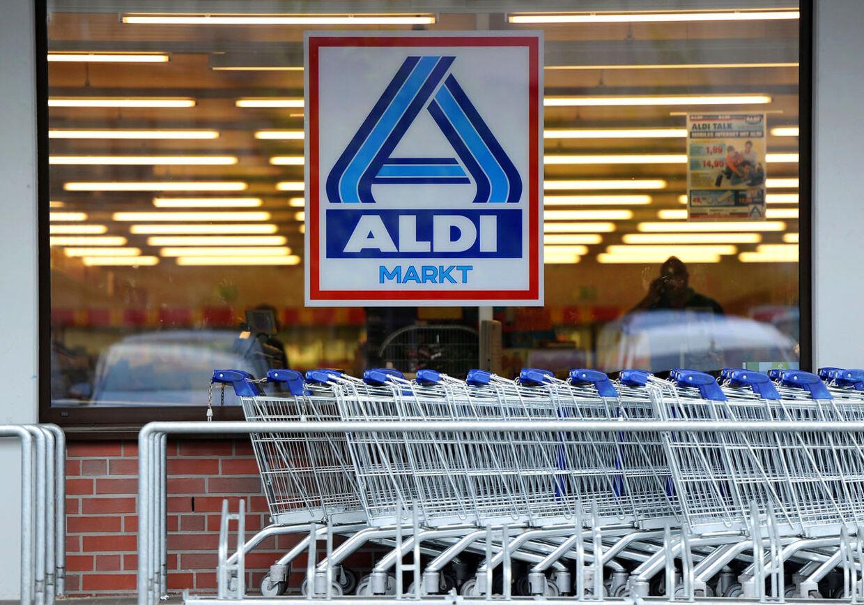 Et Aldi supermarked i Næstved fik i går besøg af en tyv med samvittigheden i orden. Billedet her stammer fra en Aldi i Tyskland.