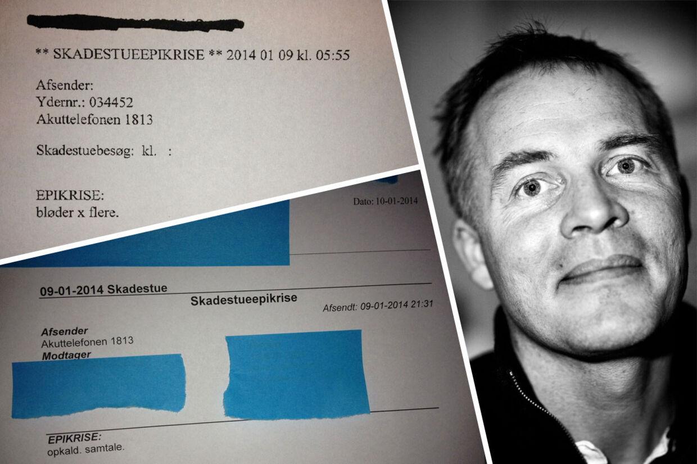 Praktiserende læge fra Nivå i Nordsjælland, Søren Brix Christensen modtog den 9. januar en epikrise på en patient, hvorpå der blot stod 'opkald, samtale' og senere samme dag en epikrise med teksten: 'Bløder x flere'.