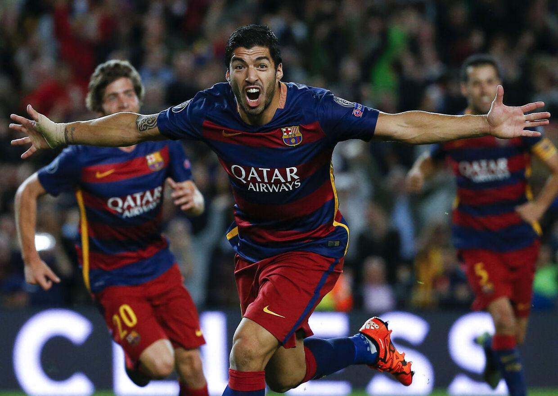Luis Suarez scorede sejsmålet og dedikerede det efterfølgende til skadet Lionel Messi.