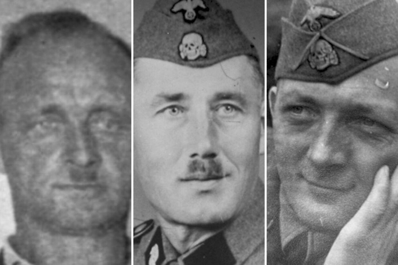 En række danskere optræder i den nye bog med navn og billede. Tre af de værste danske nazi-bødler var Orla Eigil Jensen (t.v.), Carsten Christiansen (m.f.) og kz-chefen Anton Peter Callesen (t.h.).