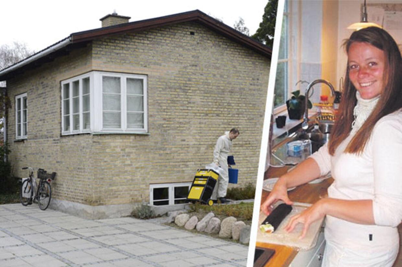 Det var her i køkkenet i villaen i Virum, at Heidi natten til fredag kæmpede for sit liv.
