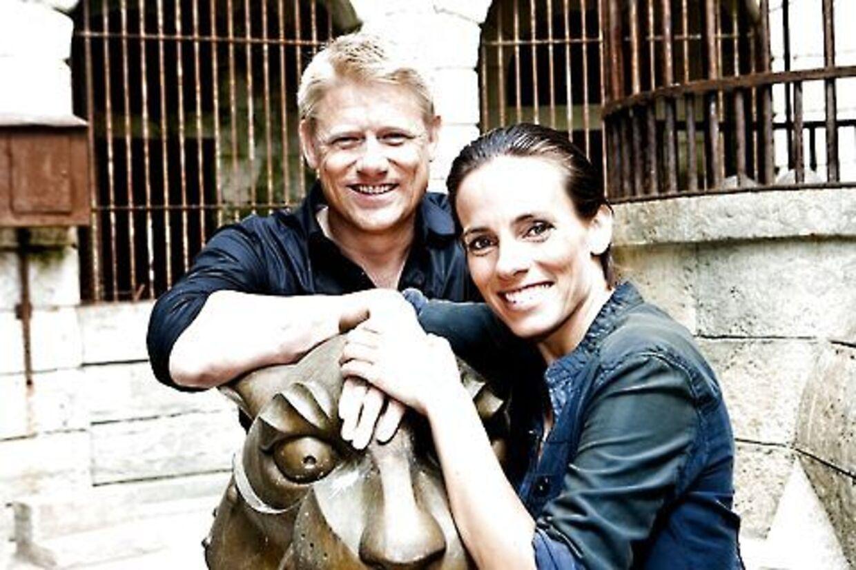 Peter Schmeichel og Camilla Ottesen er de to værter, når Fangerne på Fortet vender tilbage på lørdag.