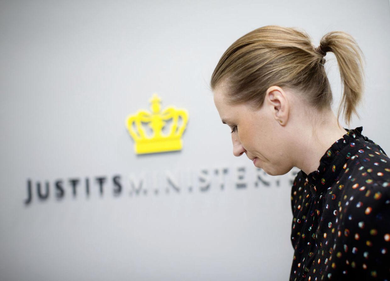 Justitsminister Mette Frederiksen svarer på spørgsmål fra Folketingets Retsudvalg, som blandt andet vil vide, hvor mange der er rejst fra Danmark til Syrien og Nordirak for at gå i krig, og var mange af dem der er omkommet. Arkivfoto: Jens Astrup/Scanpix 2015