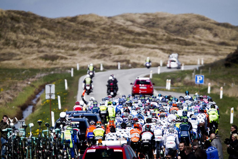 For fire måneder siden slangede Giro-feltet sig gennem Jylland. Det kommer ikke til at ske for Tour-feltet. Foto: Asger Ladefoged