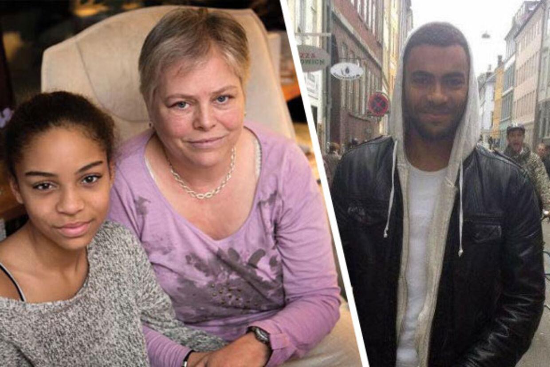 Jonas Thomsen Sekyeres mor, Lone sammen med Jonas' lillesøster Lisa.