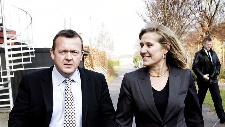 Arkivfoto. Lars Løkke Rasmussen og Sólrun Løkke Rasmussen.