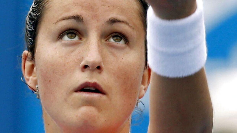 Spanske Lara Arruabarrena var en af i alt fire spiller, der deltog i kampen, der er under mistanke for matchfixing. REUTERS/Brandon Malone