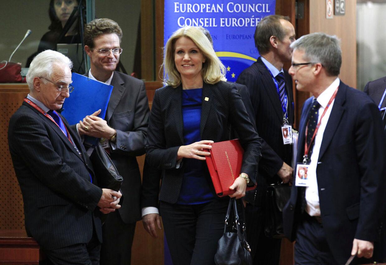 Så glade så de ud, da de mødtes fredag morgen. Nu er forhandlingerne brudt sammen.