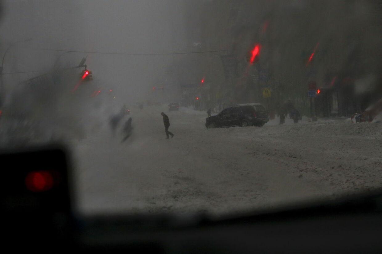 Her er et billede fra Manhattan.